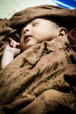 A 1-day-old baby born at Murakuri Health Clinic in Habiganj District, Bangladesh. Photo credit: Save the Children.