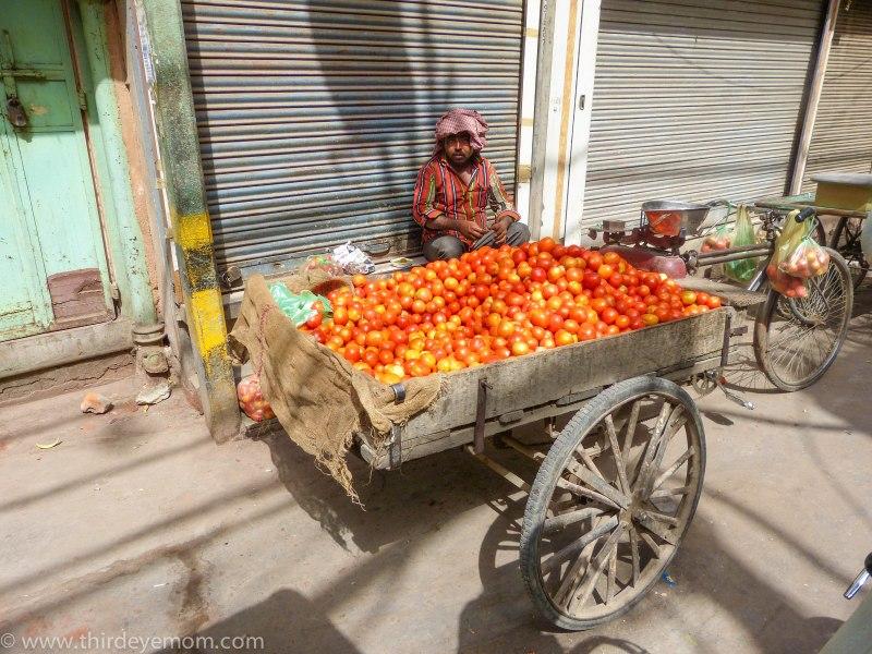 Street vendor in Delhi, India