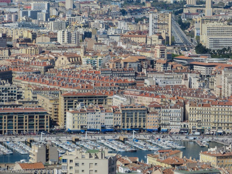 Looking down at Vieux Port