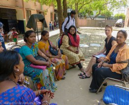 Meeting with Frontline Health Care Workers in The Indira Kalyan Camp