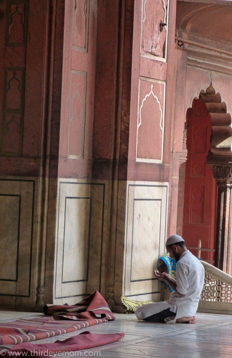 Inside the Jama Masjid