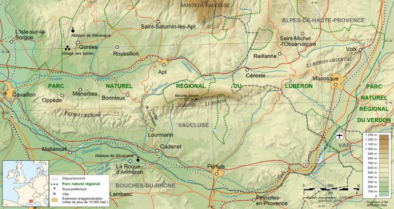 Luberon map