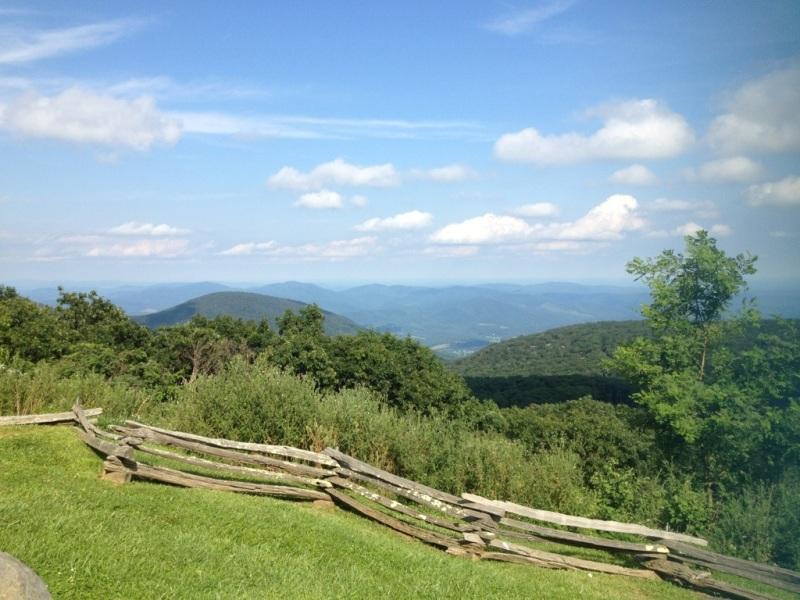 the Blue Ridge Mountains