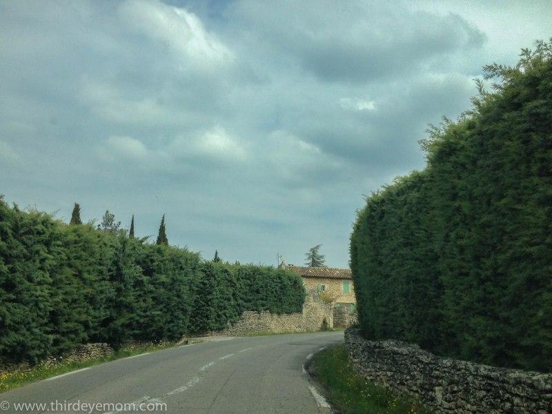 Driving to Gordes