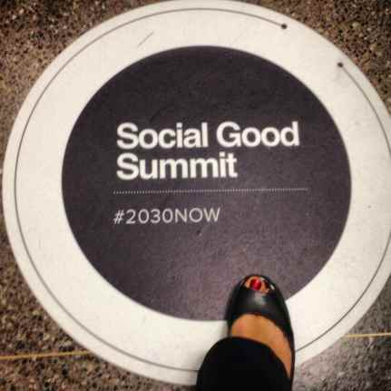First Day of the Social Good Summit