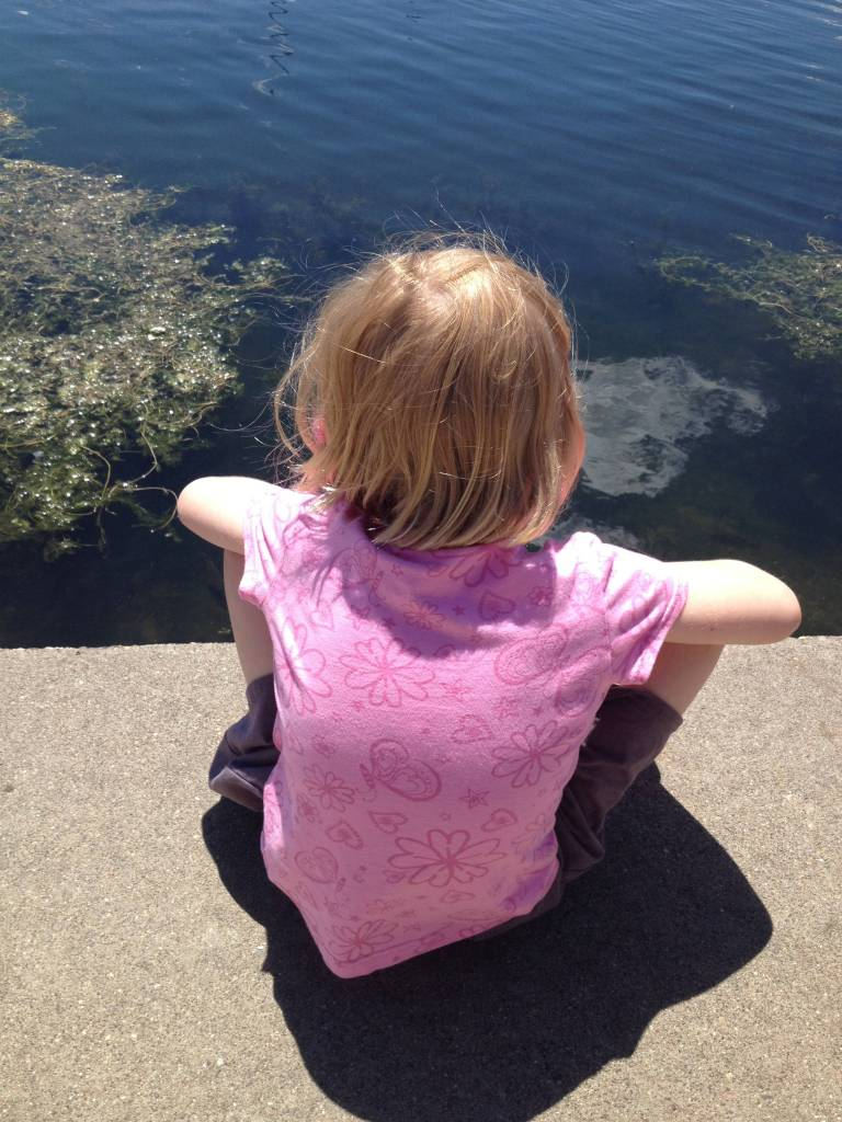 My six-year old daughter reflecting on the world