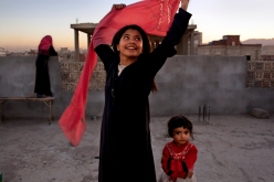 """The National Geographic exhibit """"Women of Vision.""""Nujood Ali stunned the world in 2008 by obtaining a divorce at age ten in Yemen, striking a blow against forced marriage. Photo by Stephanie Sinclair/National Geographic"""