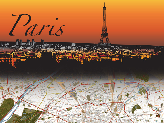 Paris Map by Doug Crews-Nelson