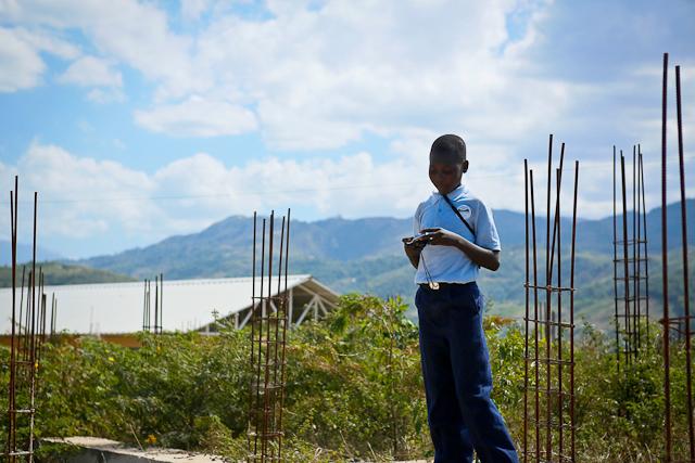 Child in Haiti View Finder Workshop. Photo credit: Babita Patel
