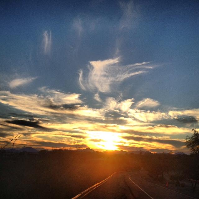 Sunset walk in Tucson Arizaon