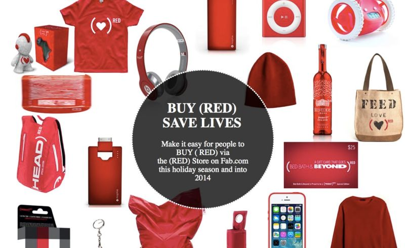Be sure to check out all (RED) products on fab.com and see the Holiday 2013 Product (RED) Gift Guide.