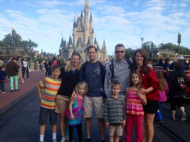 My sister's family and my family together at Disneyland