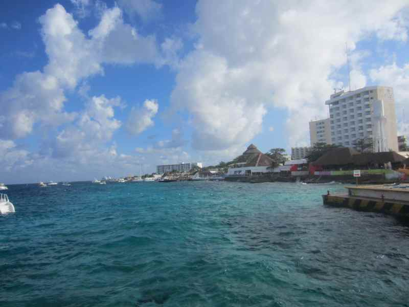 The port in Cozumel