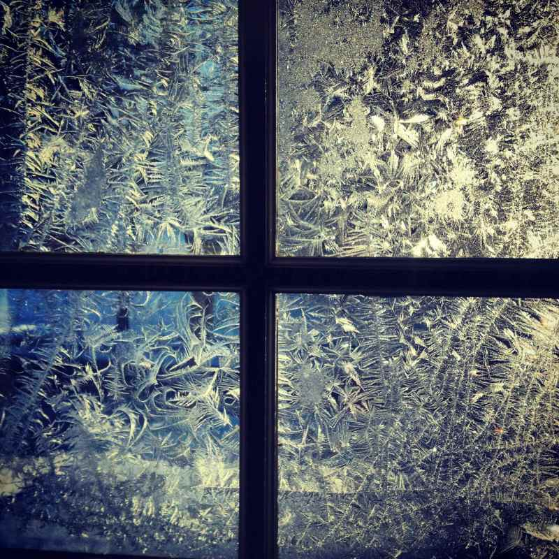 frost on windows