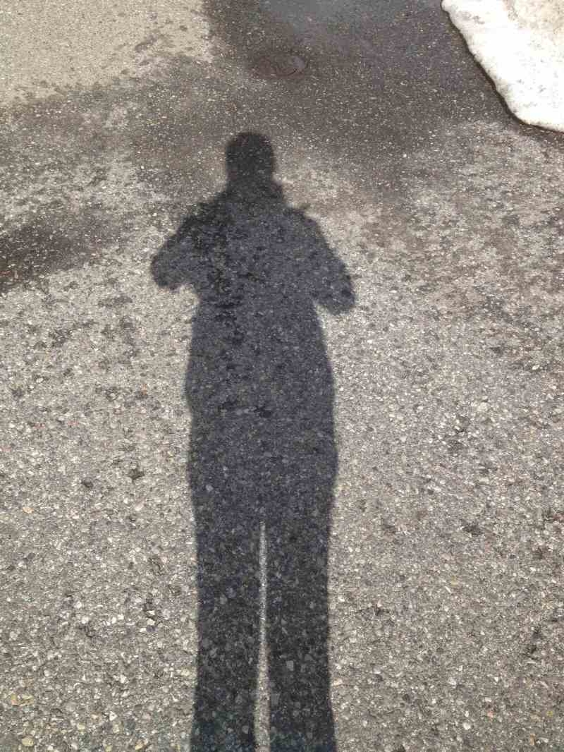 My shadow and I again