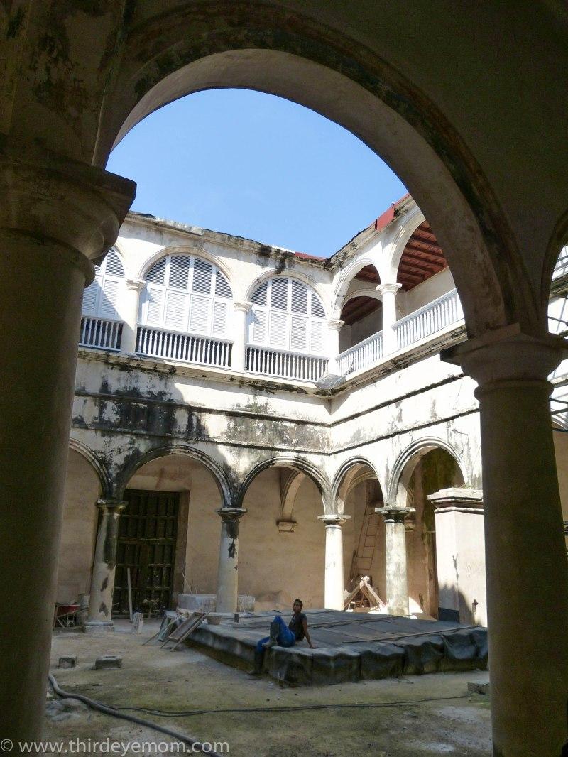 Cuban courtyard Havana