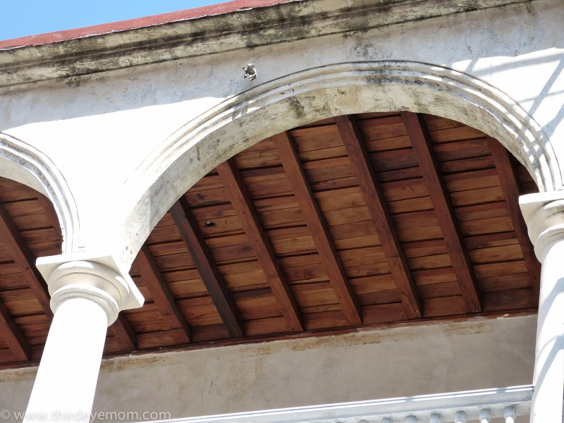 Cuban wood ceiling.