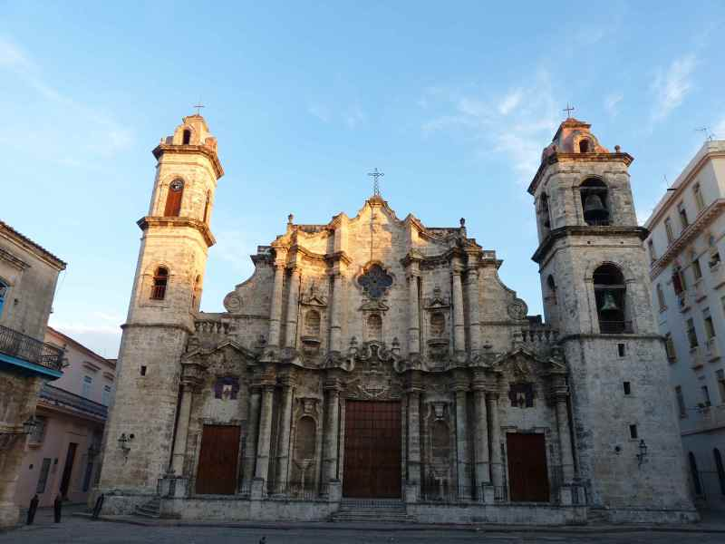 The cathedral in Old Havana