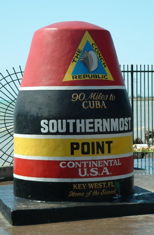 Landmark in Key West Florida. Photo courtesy of Wikipedia Free Commons.