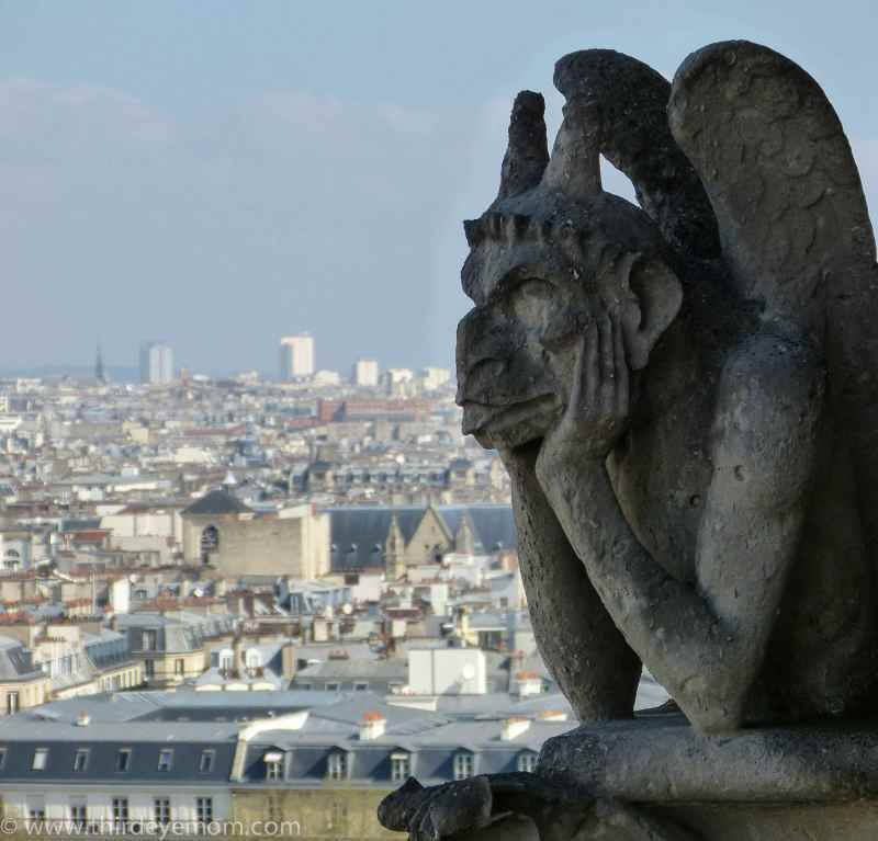 The Gargoyles on top On top The Notre Dame Cathedral Paris