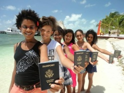 Photo of Passport Party Project girls trip to Belize (Phase 1). Photo credit: Tracey Friely