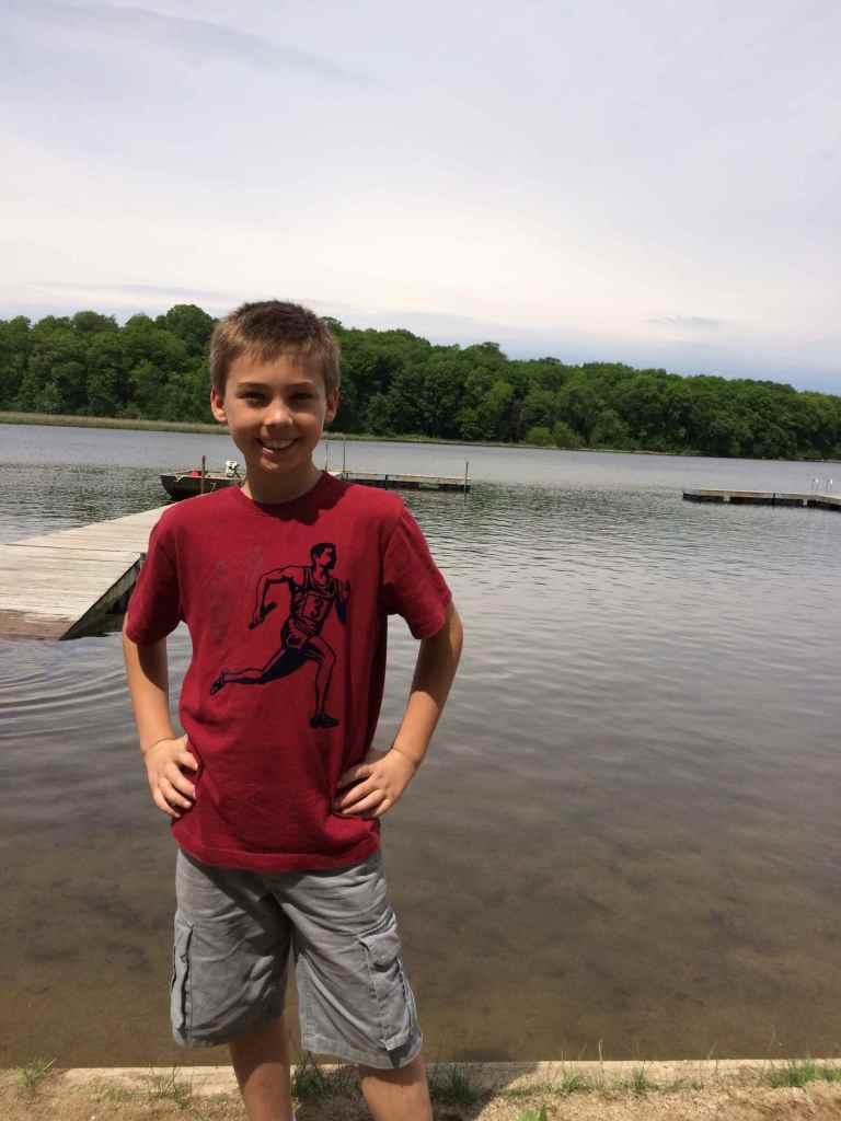 Max at his third grade field trip, an overnight!