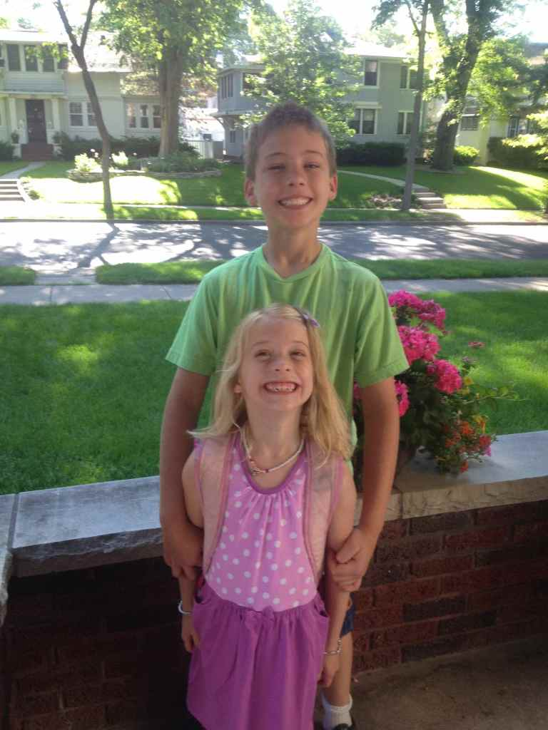 Max and Sophia on their last day of school.