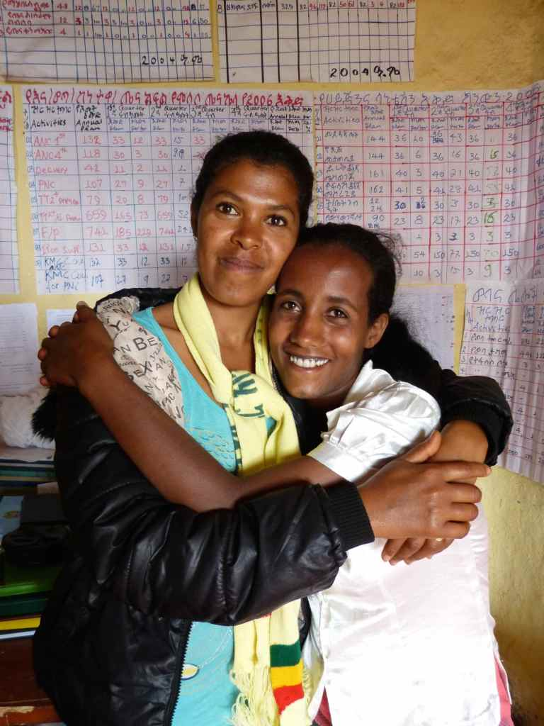 Fasika Menge and Tirigno Alenerw are Mosebo's two government-paid Health Extension Workers living and serving the community.