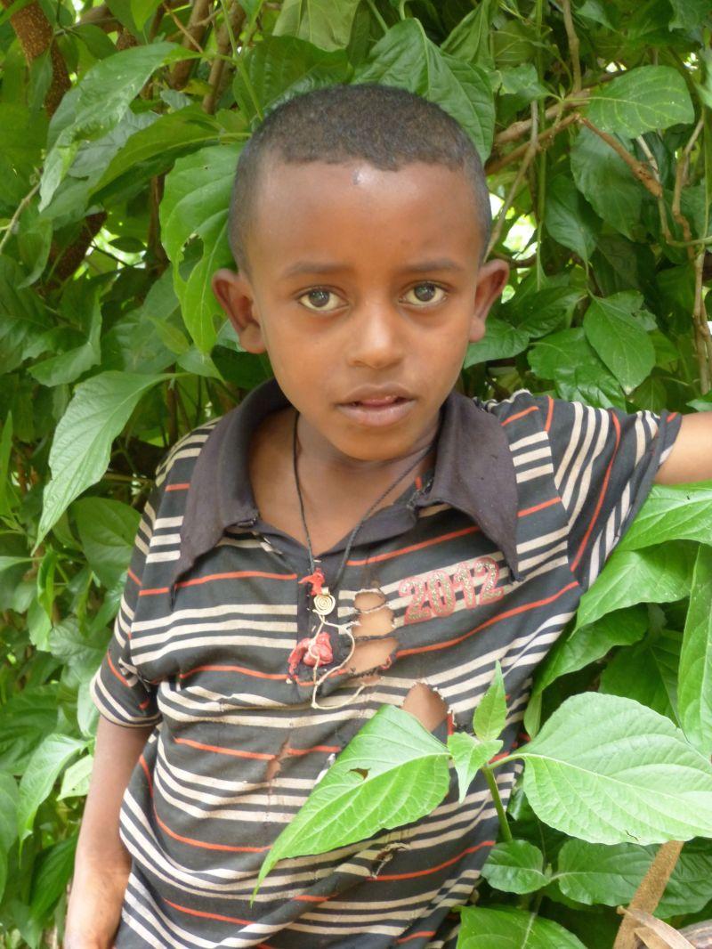 Child at island monastery in Bahir Dar