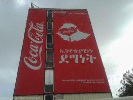 Coca cola sign in amaharic