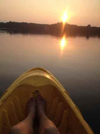 Sunset over Lake Harriet Minneapolis Minnesota