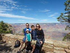 Exploring and enjoying family time at the Grand Canyon in October