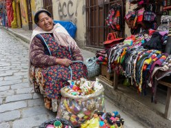 Woman in La Paz Bolivia