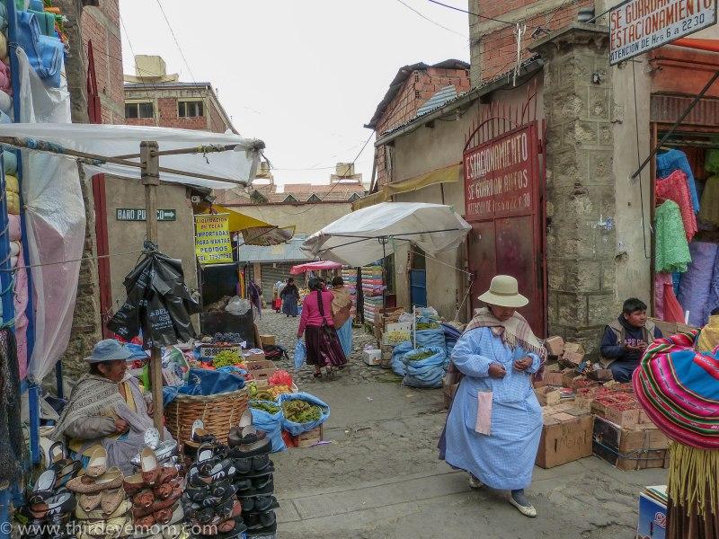 Markets of La Paz Bolivia