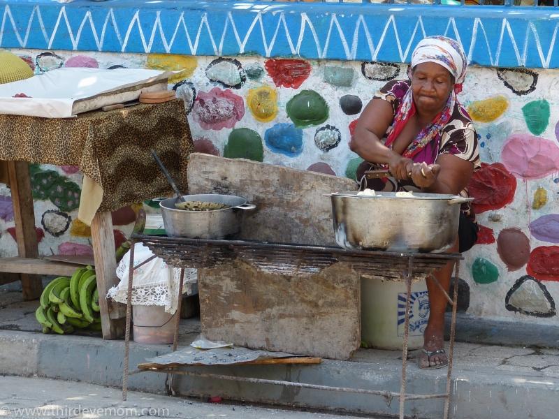 Woman Sings Jacmel Haiti Lovely 120