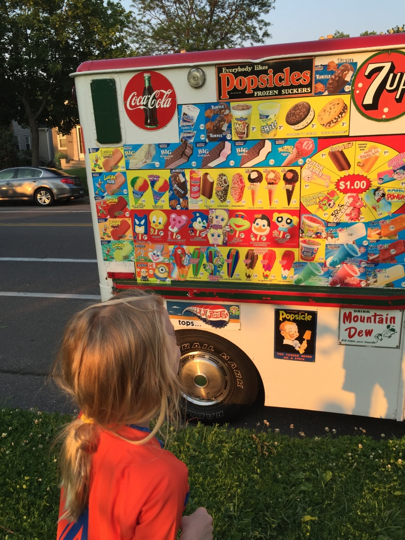 They are smart marketers! They park the ice cream truck right outside the soccer fields.