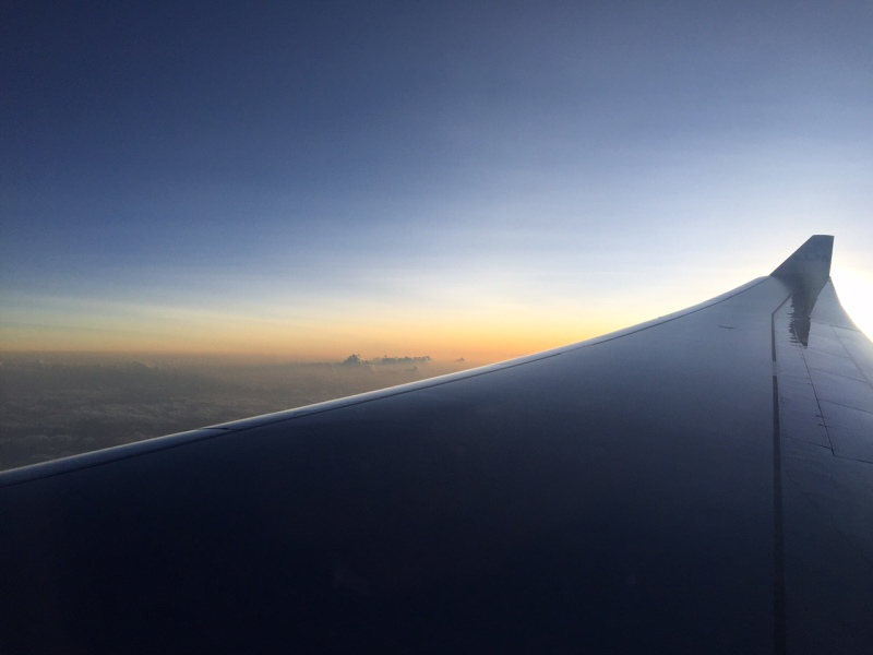 Sunset over Africa