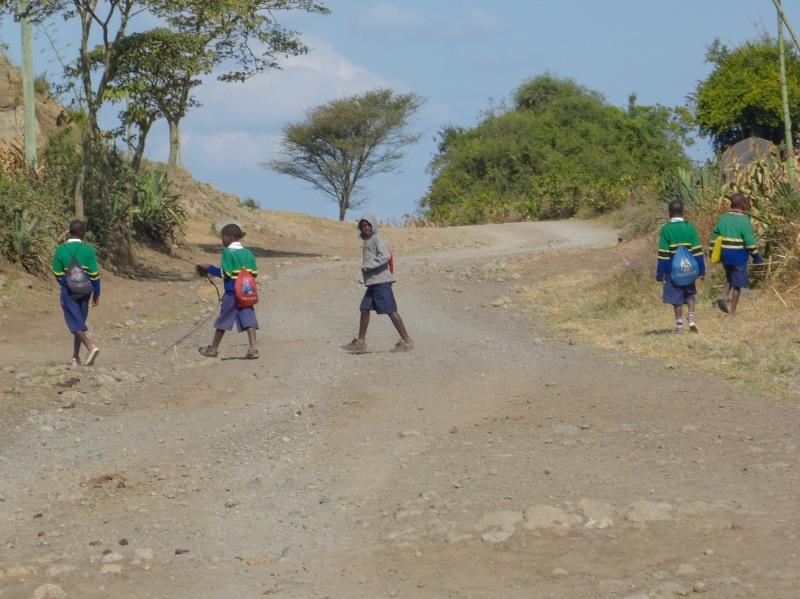 More school children going to school.