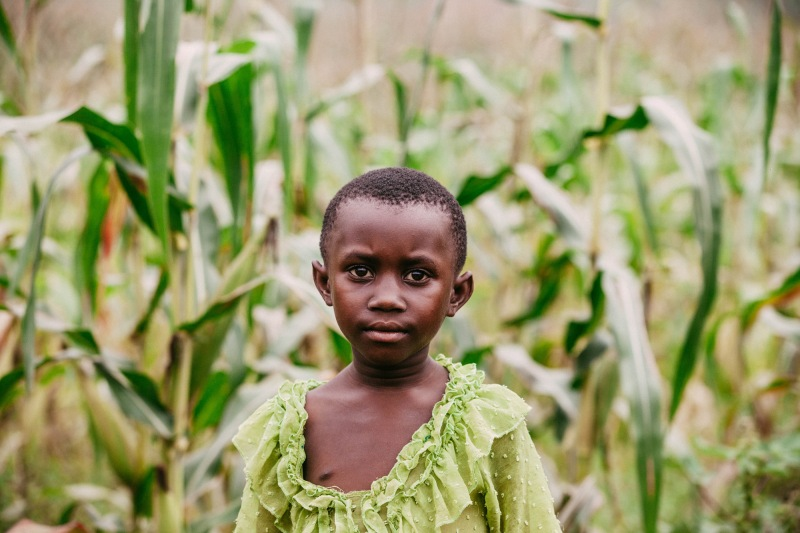 A young girl in Rwanda. Photo by Arielle Lozada