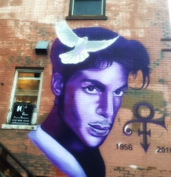 Mural of Prince in Uptown by Artist Rock Martinez.