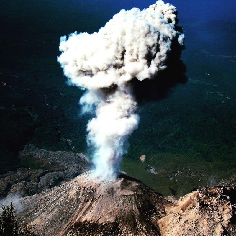 Volcano erupting in Guatemala