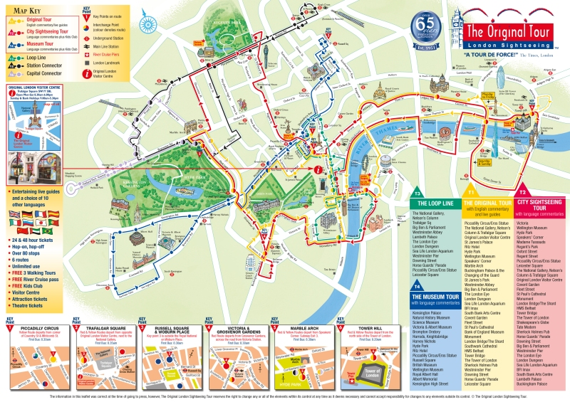 The Original Tour map. Photo credit: The Original Tour