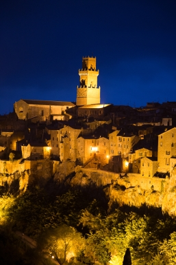 Dusk shot of Pitigliano, taken on the Photo Workshop, Umbria.
