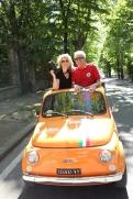 Cinquecento Day; each guest has their own driver and mini car, Umbria.