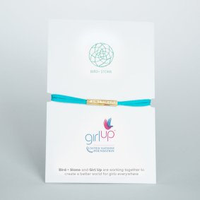 The Girl up bracelet that supports girls education