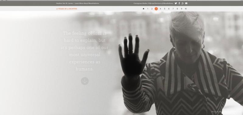Screen Shot of Heather's amazing, powerful blog