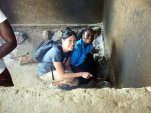 Clare conducts a soapmaking trial run during a trip in 2014. The women were interested in learning how to make soap to sell to others. Unfortunately, lye, a crucial ingredient in soap making, is hard to find in Kaberamaido, which makes this endeavor a huge challenge.