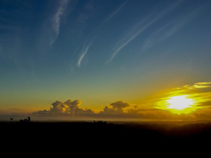 Sunrise over Osa Peninsula, Costa Rica