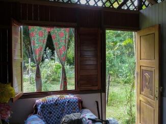 The inside of Xiña's home in Dos Brazos de Tigre
