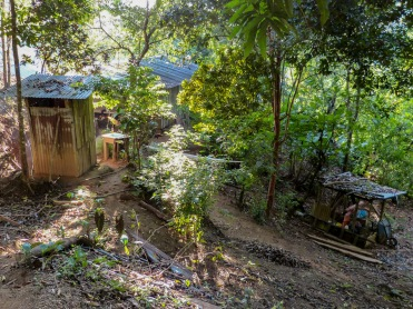Here is behind the cabin where the hammocks lay